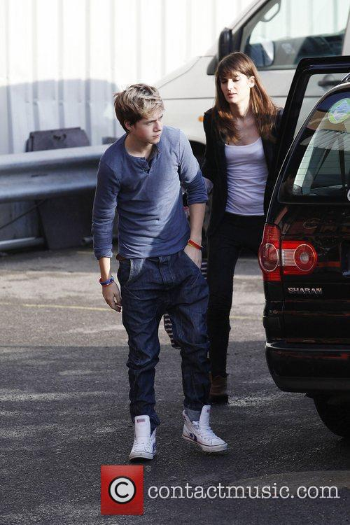 One Direction's, Niall Horan arriving at 'The X...
