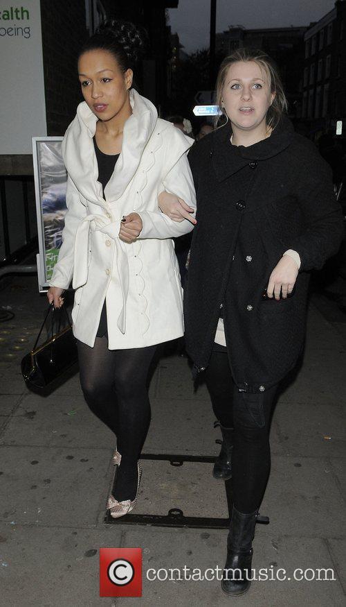 X Factor finalist Rebecca Ferguson leaving the rehearsal...