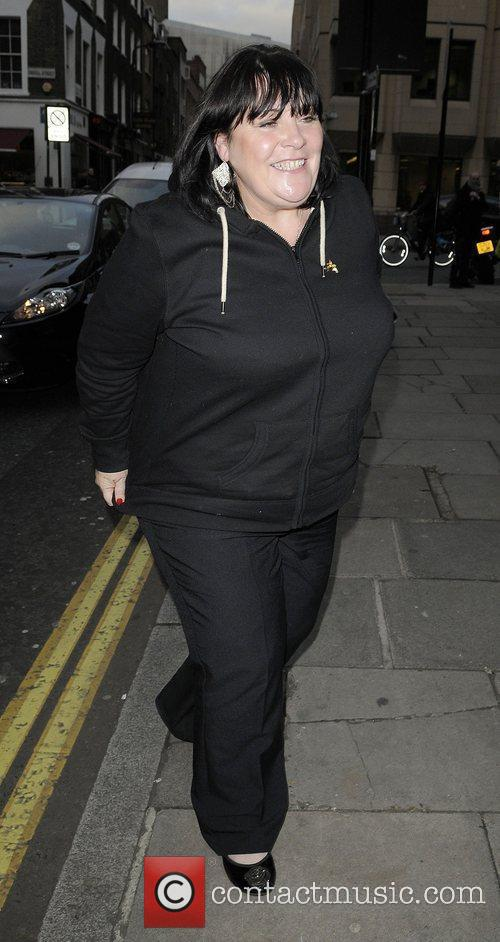 X Factor finalist Mary Byrne arriving at rehearsal...