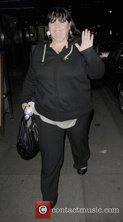 X Factor finalist Mary Byrne leaving the rehearsal...