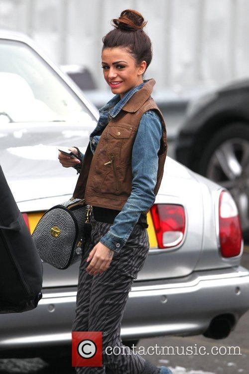 Cher Lloyd arrives at 'The X Factor' studios...