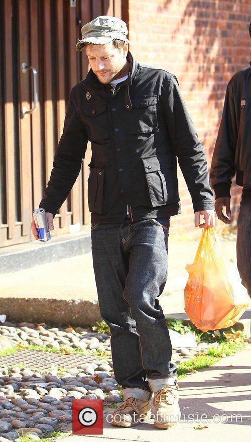 X Factor contestant Matt Cardle leaves the supermarket...