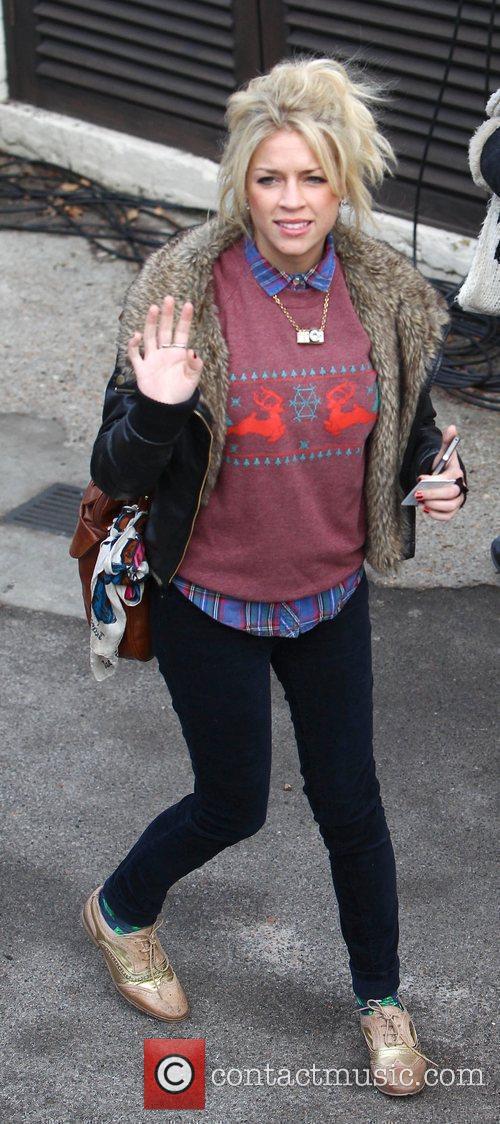 Sophie Wardman arrives at 'The X Factor' studios...