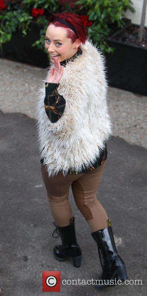 Rebecca Creighton arrives at 'The X Factor' studios...