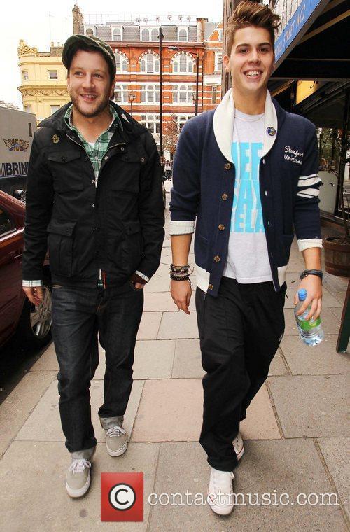 X Factor contestants Matt Cardle and Aiden Grimshaw...