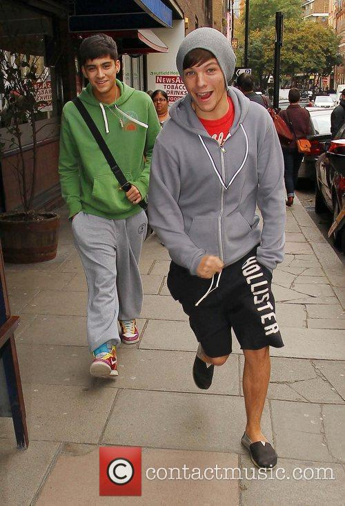 X Factor contestant Zain Malik and Louis Tomlinson...