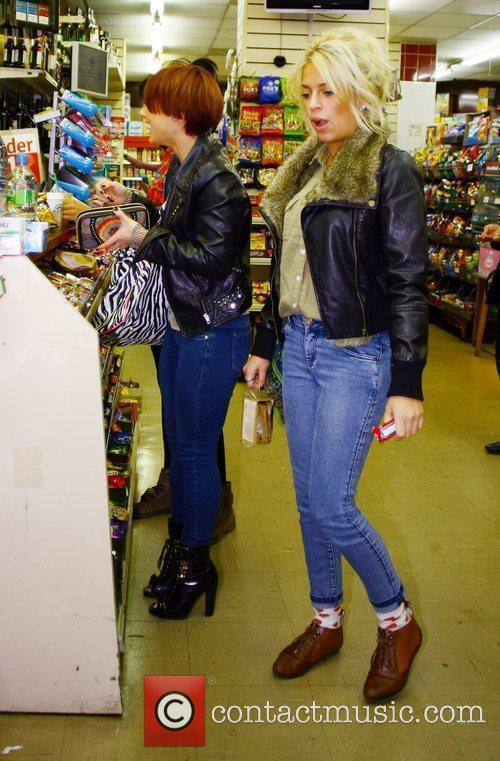 X Factor contestant Rebecca Creighton and Katie Waissel...