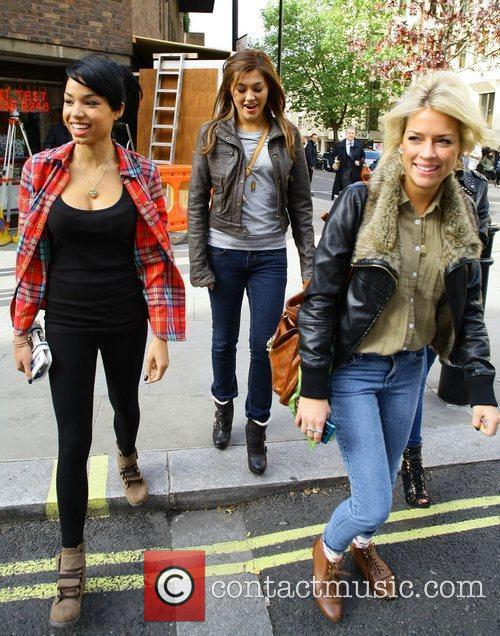 X Factor contestants Esther Campbell, Geneva Lane and...