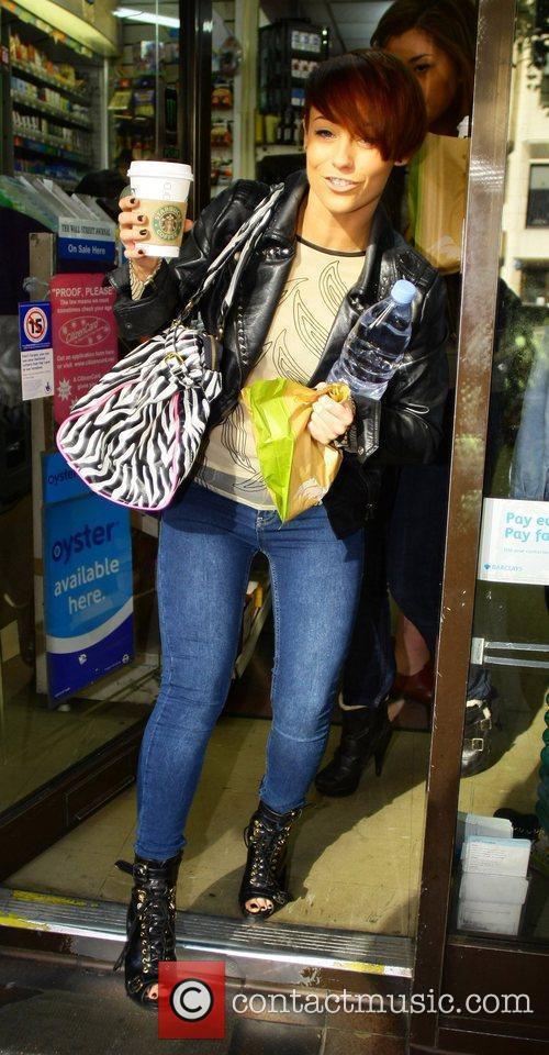 X Factor contestant Rebecca Creighton  out shopping...