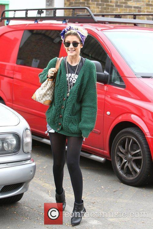 'X Factor' finalist Kate Waissel outside the rehearsal...