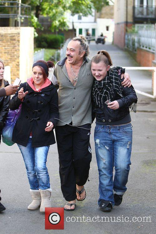 'X Factor' finalist Wagner Fiuza-Carillho outside the rehearsal...
