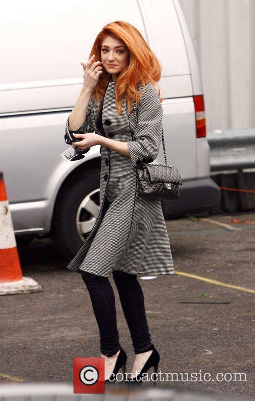 Nicola Roberts arrives at Fountain Studios in preparation...