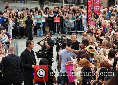 Simon Cowell X Factor Auditions at the Manchester...