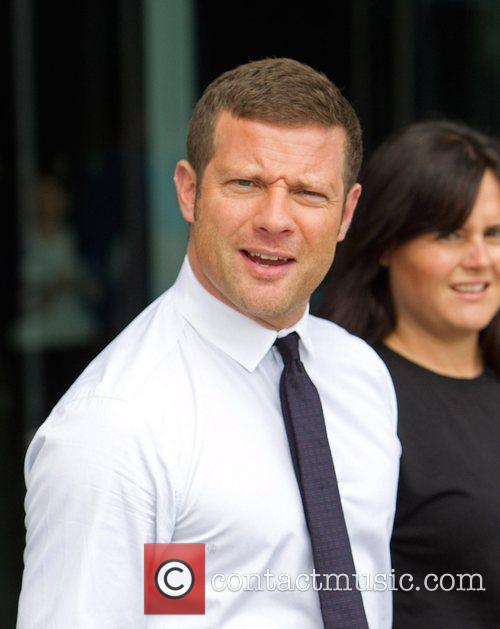 Dermot O'Leary outside the 'X Factor' auditions at...