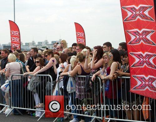 Atmosphere The 'X Factor' auditions at the ExCel...