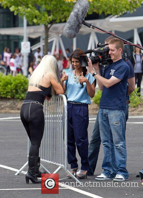 Outside the 'X Factor' auditions at the ExCel...