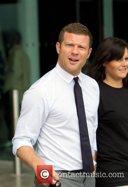 Dermott O'Leary outside the 'X Factor' auditions at...