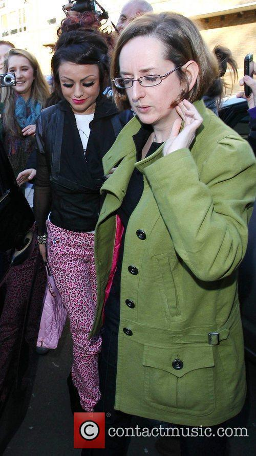 'X Factor' finalists leaving the studio after the...