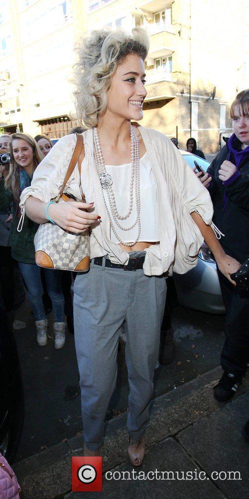 Katie Waissel 'X Factor' finalists leaving the studio...