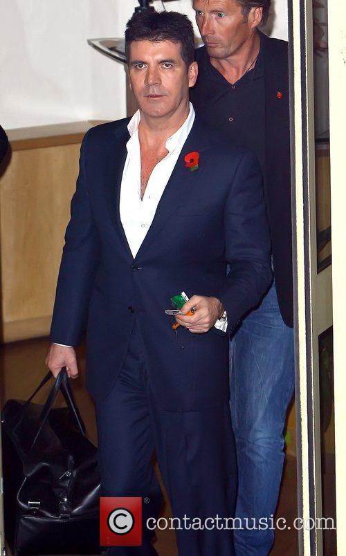 Leaving the 'X Factor' studios following the Saturday...