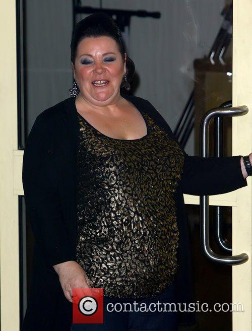 Mary Byrne leaving the 'X Factor' studios following...