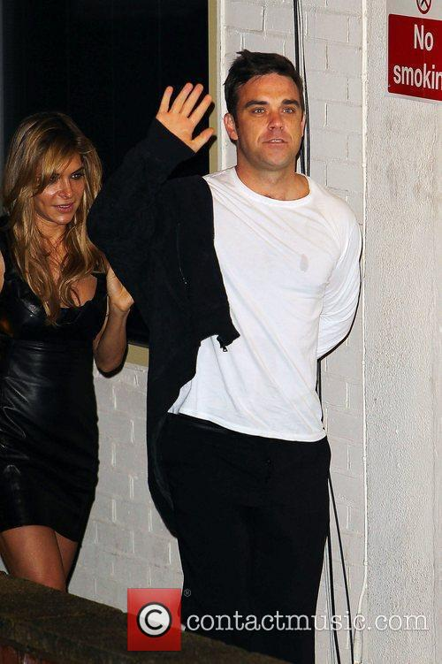 Robbie Williams of Take That   arrives...
