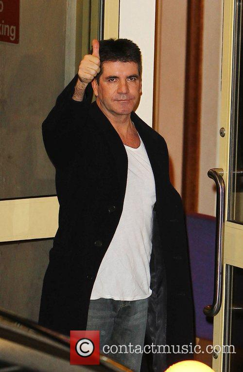Simon Cowell   arrives at the X...