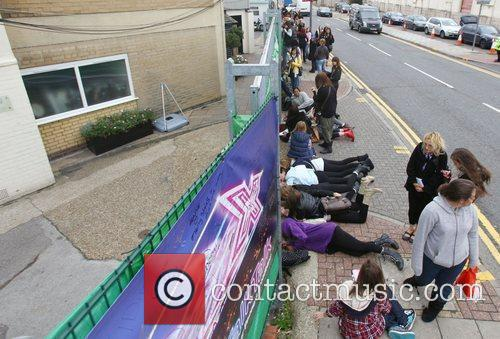 X Factor fans wait to catch a glimpse...