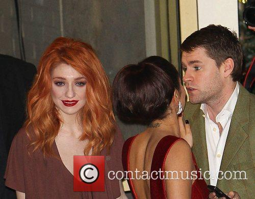 Nicola Roberts and Charlie Fennell kissing Cheryl Cole,...