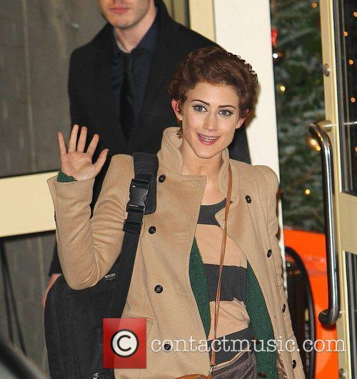 Katie Waissel,  leaves the studio after 'The...