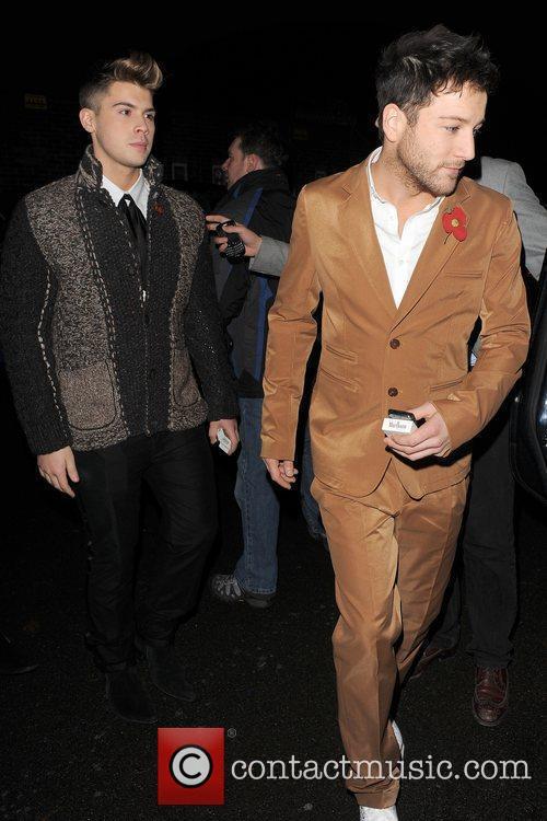 X Factor finalists Aiden Grimshaw and Matt Cardle...