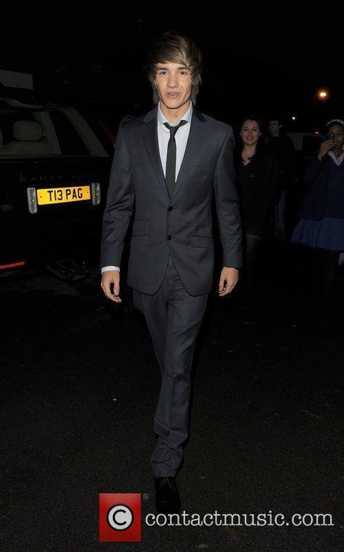 X Factor finalist Liam Payne leaving a recording...