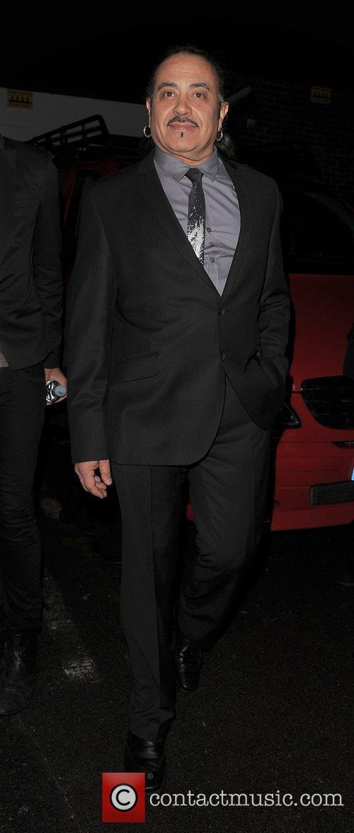X Factor finalist Wagner leaving a recording studio...