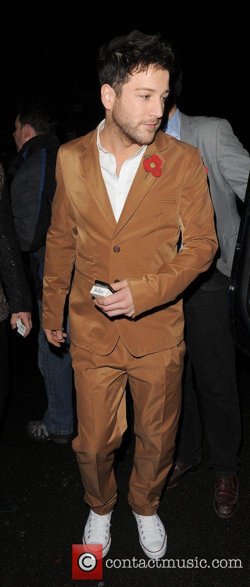 X Factor finalist Matt Cardle leaving a recording...