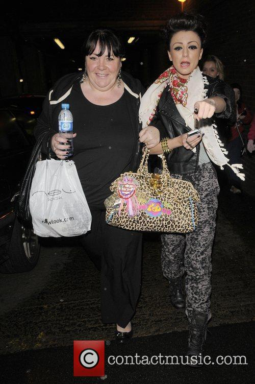 'X Factor' Finalists leaving a gym in central...
