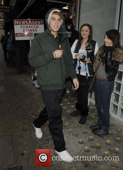 Aiden Grimshaw X Factor Finalists out and about...