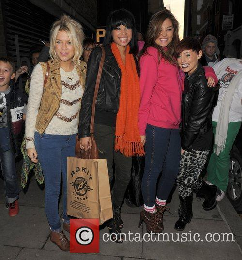 X Factor finalists Sophia Wardman, Esther Campbell, Geneva...