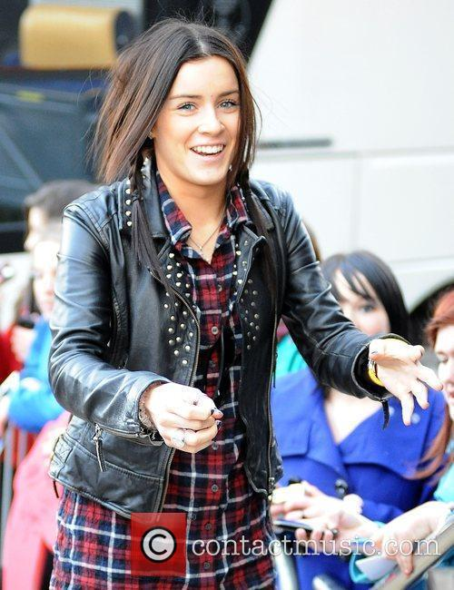 Lucie Jones X Factor contestants leave their hotel...