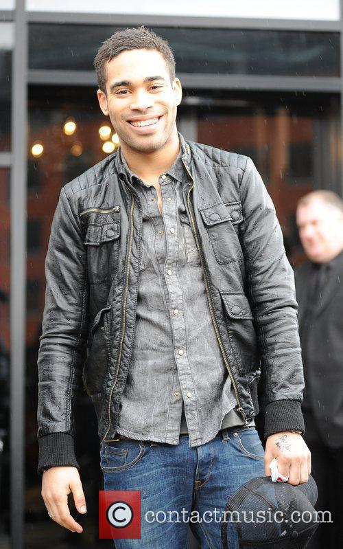Danyl Johnson X Factor contestants leave their hotel...