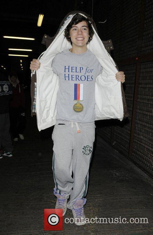 X Factor finalist Harry Styles from boy band...