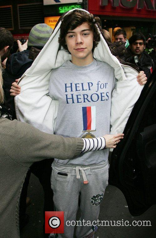X Factor finalist Harry Styles of One Direction...