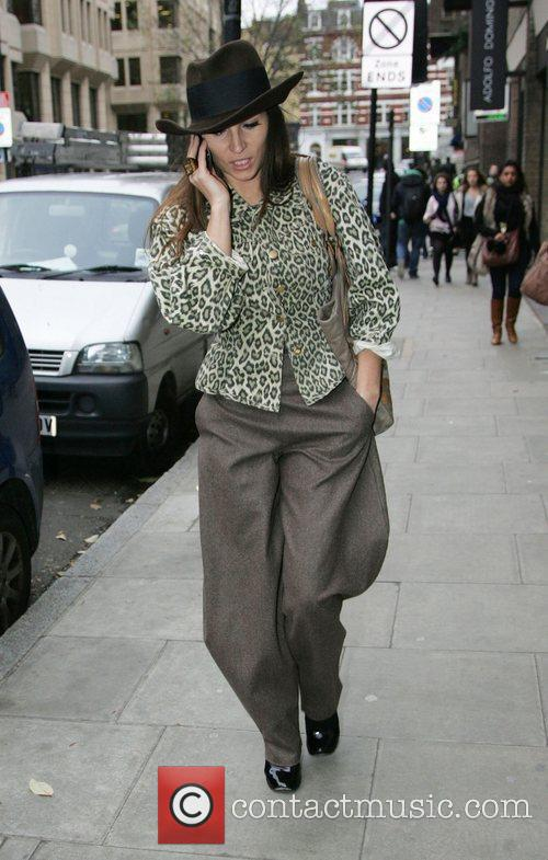 Grace Winward arriving at the gym. London, England
