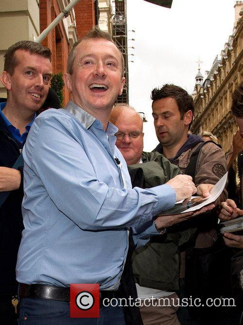Louis Walsh leaving his hotel for the X...