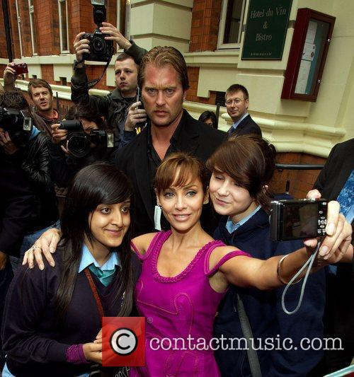 Natalie Imbruglia leaving her hotel for the X...