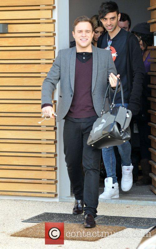 Olly Murs leaving the 'X Factor' house ahead...