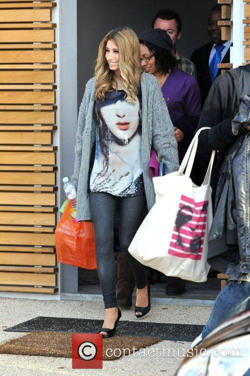 Stacey Solomon leaving the 'X Factor' house ahead...