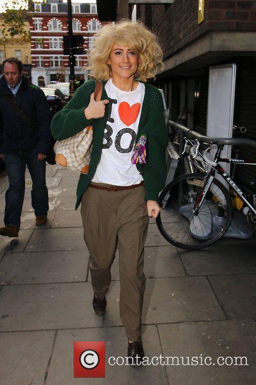 X Factor finalist Katie Waissel on her way...