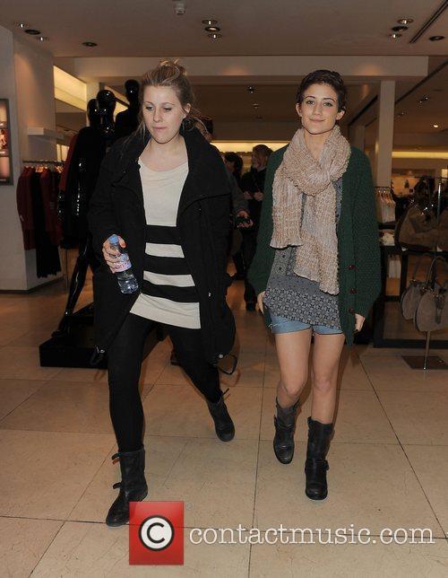 X Factor finalist Katie Waissel window shops in...