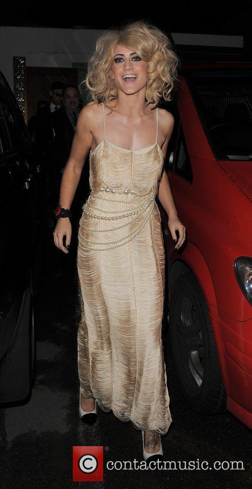 X Factor finalist Katie Waissel leaving a recording...