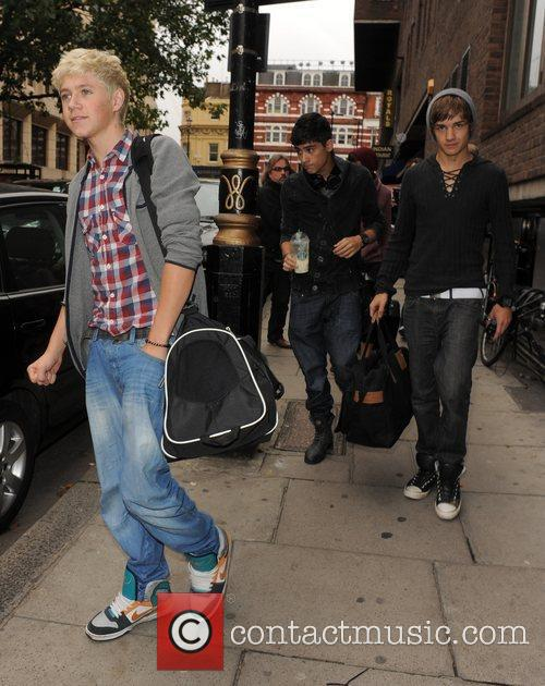 X Factor contestants Niall Horan, Zain Malik and...